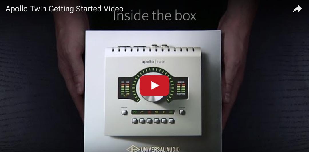 Universal Audio 的 Apollo Twin 官方開箱影片介紹