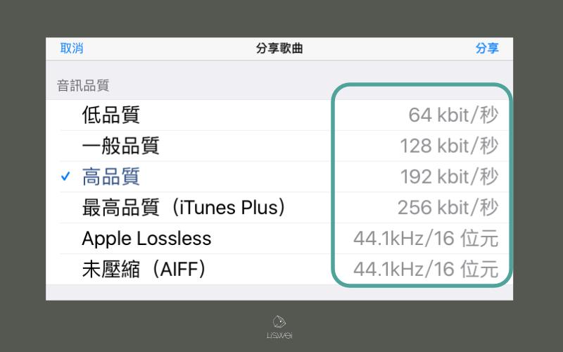 不只是可以編輯要輸出的音樂資訊,同時還可以選擇要輸出的檔案格式。(音質越好檔案越大)