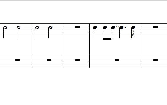 五線譜-節奏類型變化