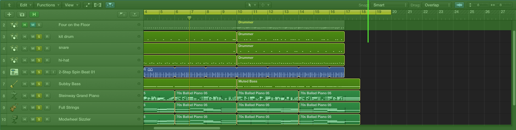 Logic-pro-x-Track-area