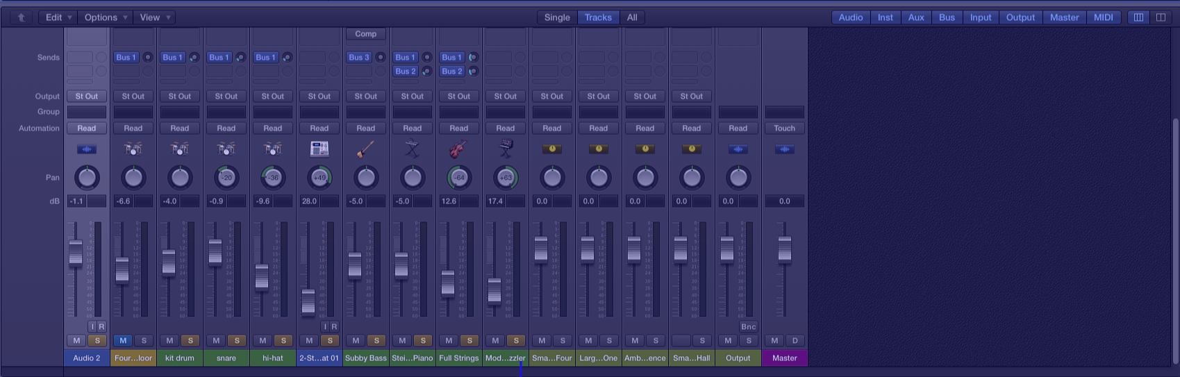 Logic-pro-x-mixer