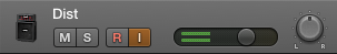 Logic pro x Input Monitoring button