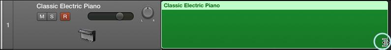 編輯 MIDI 片段的範圍