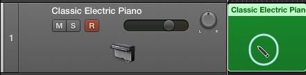 建立 MIDI 編輯區域