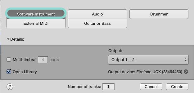 新增軟體音源