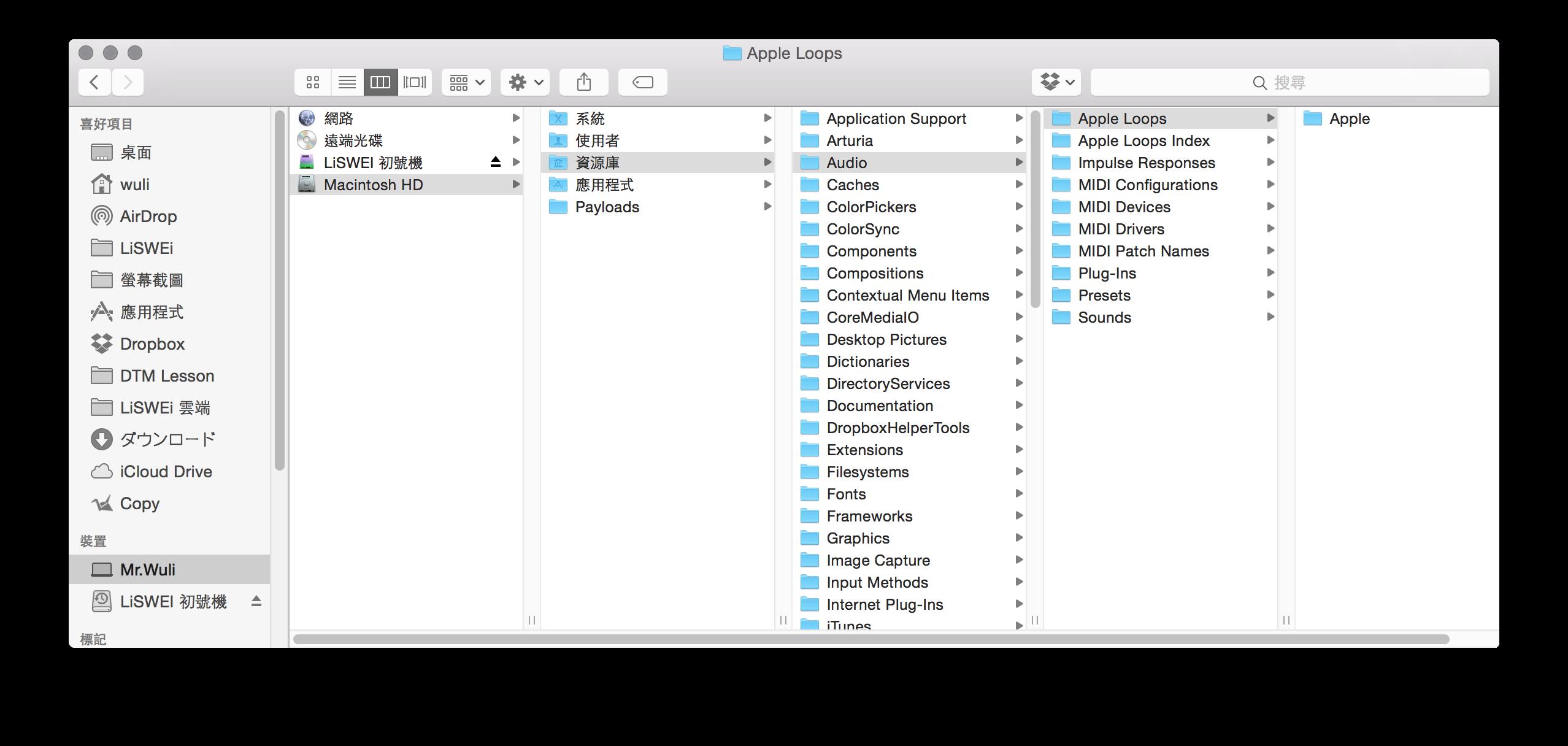 Apple Loops的存放位置