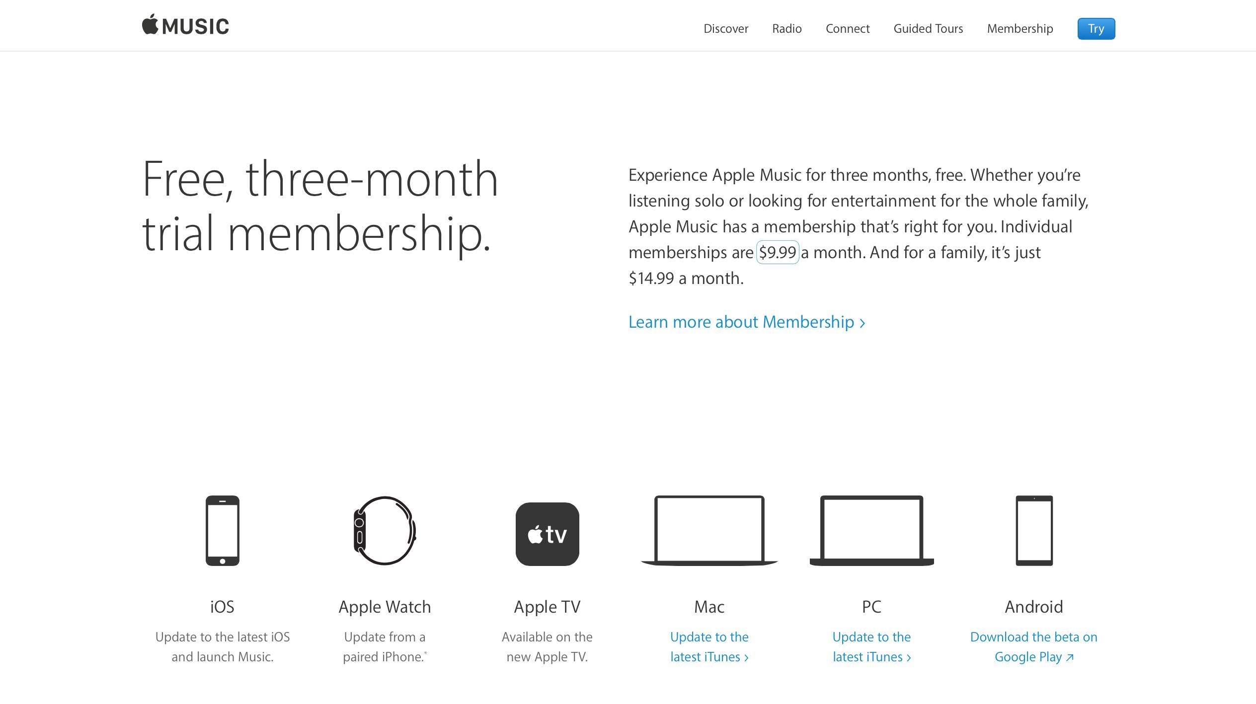 美國的 Apple Music 的月費為 9.99 美金,換算當前匯率每月約 330 元台幣。
