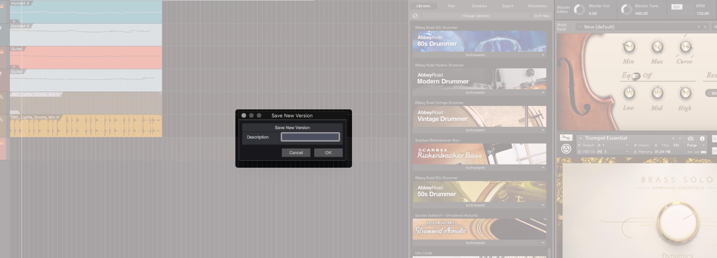 除了 Save as 與 Save to New Folder 以外,你還可以夠過 Save New Version 來記錄階段性的歌曲檔案內容。