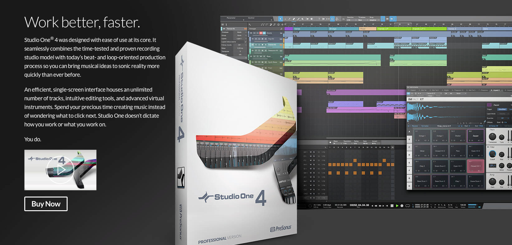 PreSonus Studio One 4 專業錄音編曲軟體