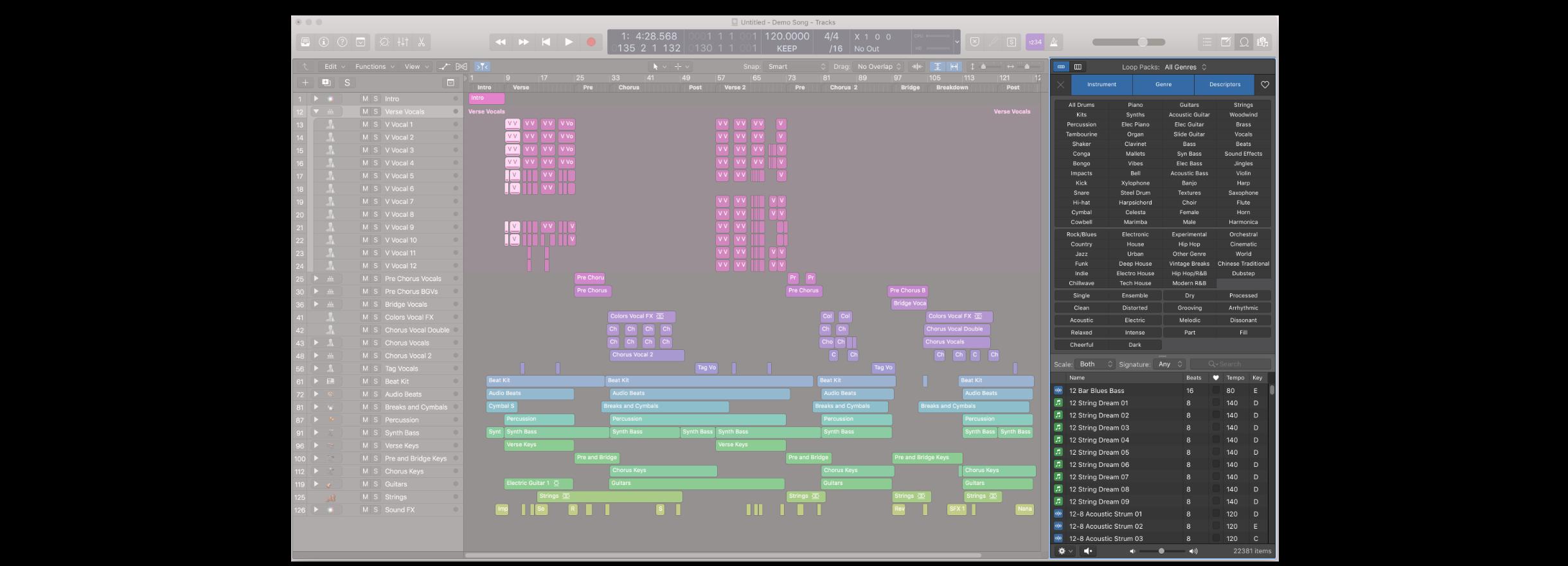 Loop 視窗是一個很好用的視窗,使用得當的話,在創作音樂時可以獲得許多靈感。開啟 Loop 視窗的快捷鍵是英文字母的 o