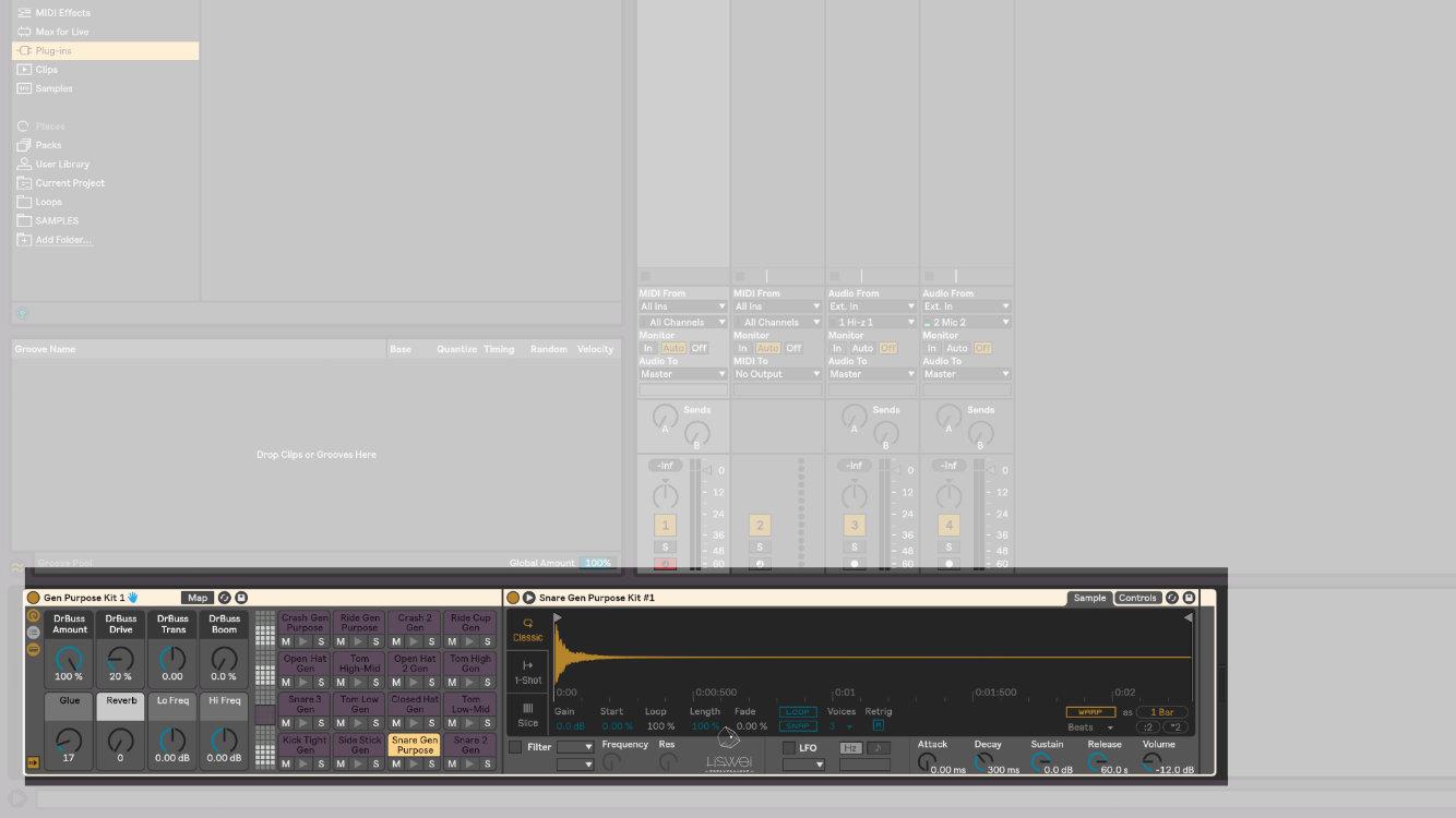 在 Ableton Live 10 中的軟體樂器與效果器插件等等都統一稱作 Devices