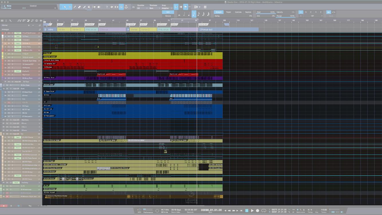 在 Studio One 4 中,被切分開來的樂句、或是片段內容,被統稱作 EVENT。