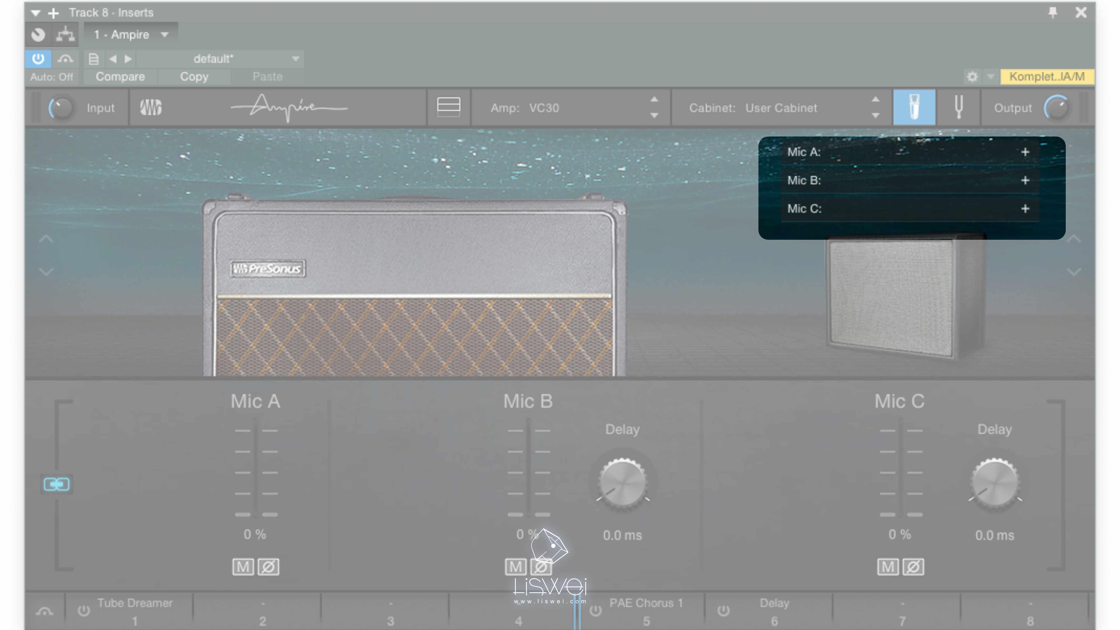 不只提供更多內置的音箱前級與箱體的模擬,更開放用戶可以掛載自製或是購買下載的 IR 檔案。