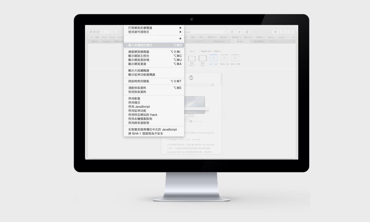 How To View web design in Safari4