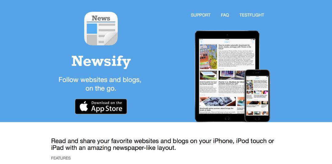 手機上的 RSS 閱讀軟體有很多,會選擇 Newsify 是因為他不需要月租費用,可以直接購買進階功能;瀏覽上也算舒適方便。
